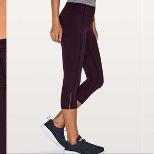 Lululemon Fast and Free Crop purple